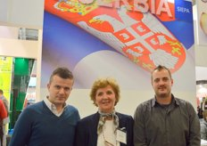 Evica Mihaljevic with colleagues from the Association of Fruits of Serbia, organizers of the Serbian delegation