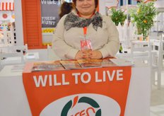 """Aysel Oguz of Eren Tarim, the company just launched their new slogan ""Will to Live"""