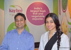 Sutyam Mishro and Arti Seth of Kaybee (India), one of India's leading integrated fruit and vegetable exporters with annual revenues exceeding US$ 15 million