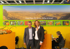 Itzhak Vizenberg and Malou Even from Arava Export Growers