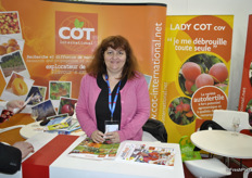 Marie-Laure Étève-Lambertin from COT International, specialist in developing new varieties of apricot, plums and cherries.