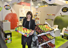 Nathalie Casal from Distrimex promoting Bel'Pom and Soleia