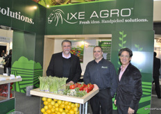 Jose Pons, William Andina and Carlos A. Muñoz from IXE Agro