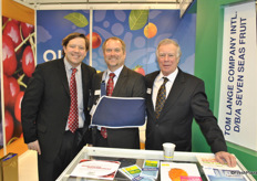 Greg Thorne, Greg Reinauer and Rock Gumpert from Tom Lange Company and Seven Seas Fruit