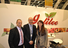 Oded Jacobson, Ely Keslassy and Audrey Iznardo (Univeg) from Galilee Export