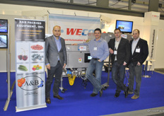 Piotr Milewski (A&B Packaging Equipment), Eric Horner (WECO), Dominic D'Amore (WECO) and Josh Gray (A&B Packaging Equipment)