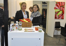 Andrea Dulai and Orsolya Eleod from Garden Trade, Hungary. Gardenjuices are 100% fresh fruit juices.