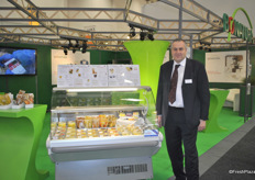 Christian Bohlen from Bonatura, from Czech Republic with Bonatura's fresh prepared fruit bowls