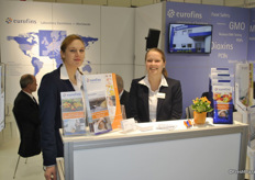 Anke Spree and Luisa Mehl from Eurofins, Germany. Eurofins offers reliable analytical methods for characterising the safety of products and biological substances.
