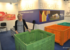 Silvia Lerchner from Europlast, Austria. Transport facilities and securtiy bars for agriculture industry