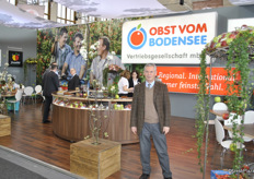 Maximilian Stohr from Baywa in the stand of Obst vom Bodensee. The Obst vom Bodensee Vertriebsgesellschaft mbH markets the products of its own shareholders, VEBO-Frucht and BayWa AG to the German food retail trade and for export.