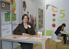 Judith Reiß from 5 am Tag, Germany. Non profit company, their making promotion to eat more fruit and vegetables.