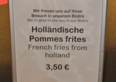 Multicultural fries at the Fruit Logistica