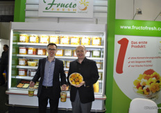 Rafael Zwoinski and his father for Fructo Fresh, Poland. Here they stand with their fresh packed fruit salades without preservatives.