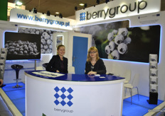 Hagdalena Pilch and Stefanie Janeczek from Berrygroup. BerryGroup is a group of producers who grow various species of American blueberry.