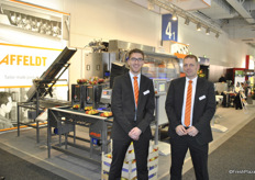 Alexander Bannach and Ralph Mantwitz for Affeldt, Germany. They are standing in front of their machines.