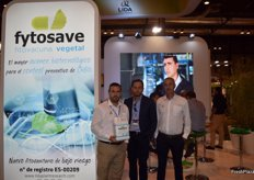 Miguel Sarrión, José Ignacio Castillo and Cristóbal Peris at the stand of Lida Plant Research; a company specialised in biostimulants and phytonutrients exhibiting at Fruit Attraction for the first time and promoting its Fitosave phytovaccine.
