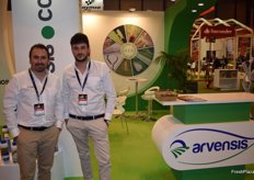 Daniel Lahoz and Álvaro Moya at the stand of Arvensis, supplier of phytonutrients.