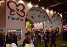 Stand of Primaflor, large producer of lettuce, leafy vegetables and fresh cut products.