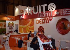 Stand of the Andalusian company Delta Blau, mainly a trader if citrus fruits and apples.