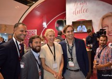 Stand of Grupo AGF with presenter Anne Igartiburu, new image for Fashion watermelons.