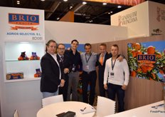 Stand of Brio Fruits, company specialised in citrus and member of the new project Naranja de Valencia; a brand that will certify the origin and quality of citrus.