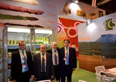 Stand of Centro Sur, Granada-based company specialised in the production, import and export of asparagus.