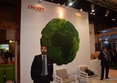 David Franco, promoting the brand Cricket, about to start with the broccoli campaign.