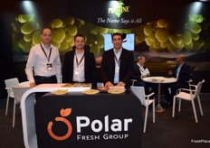 Stand of Polar Fresh Group, promoting its seedless table grape variety Pristine, grown in Spain, Chile, Peru and Australia.
