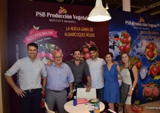 Stand of PSB Producción Vegetal, presenting its new and revolutionary red apricot varieties.