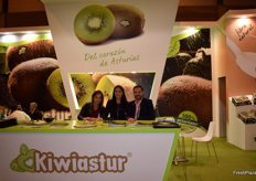 Stand of Kiwiastur, Asturian company devoted to the production and marketing of kiwis.
