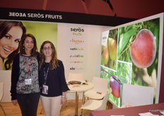 Stand of Seròs Fruits, a company based in Seròs, Lleida, devoted to the production and marketing of stone and pome fruit.