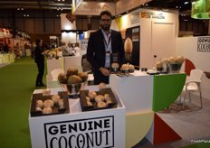 David Amorós, sales representative for the Middle East and North America of Genuine Coconut, an innovative format for fresh and organic coconut juice which is expanding to many countries.