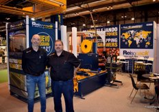 Oscar Saldana and Xavi Fernández, of Reisopack, leaders in strapping and palletising solutions.