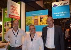 De Laat cooling technique. Adriaan van Beek, Luis Gonzalez and Olaf van Dooren. By participating at the Fruit Attraction, De Laat wants to enter the Spanish-language market. The Ecotop ripening system is shown at the fair. A system that ensures lower costs by saving energy.