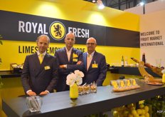 F.M.I.: Limes, Lemon and more. This company was at the Fruit Attraction for the first time. Their slogan: A company that dares to be different dares to be FMI yellow. Left to right: Peter, René and Henk Bouman.