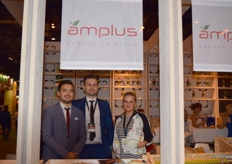 Michal Knop, Marek Knop and Magdalena Domzalska from Amplus.