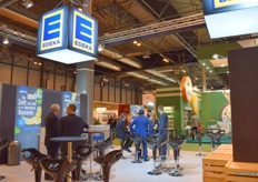 A view of the Edeka stand.
