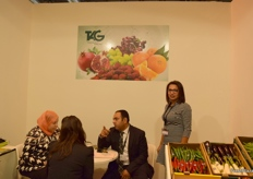 Executive Manager for TAG, Bassem El Gergawy (middle), busy speaking with visitors to the stand.