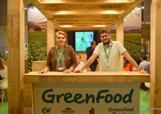 Toni Gil and Juame Vilaseca at the SP Greenfoods stand.