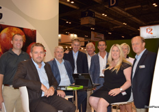 At the T&G Global stand (left to right)- Mike Soulsby, Frank Alluine, Simon Beck, Gary Harrison, Tony Fissette, Didien Greven, Sandi Boyden, Greta Knapen and Marc LePrince.