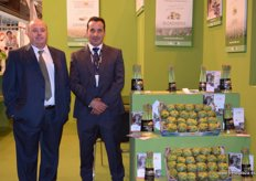 Jose Luis Ruiz and Carlos Ortega, of Hortovilla. A Spanish company devoted to the production of asparagus and artichokes.
