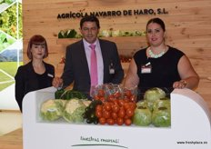 Agrícola Navarro, producers and exporters of vegetables. From left to right: Jara Conde, Antonio Sabiote and Juani Navarro.