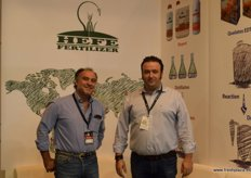 Alfonso Saenz and Jose Manuel Hernández, of Hefe Fertilizer, Spanish producers of fertilizers present in 32 countries.