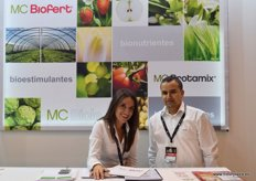 McBio, a producer and distributor of bionutrients and biostimulants. In the photo: Roselle Martinez and Ali Mahious.
