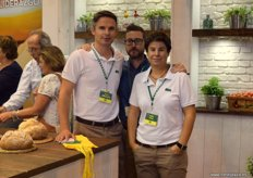 Tom Lombaerts, Pepe Jurado and Nuria Viñas, of Fito; a multinational founded in Spain devoted to the supply of seeds.