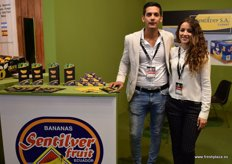 Alejandro Sánchez and Eva Márquez, of the Ecuadorian company Sentilver; a banana producer with over 7 years' experience in exporting, which was the only representative of this South American country.