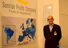 Carlos Tabet, of Sunrise Fruits, marketers of fruits and vegetables.