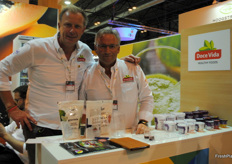 Hans Dekker and Wim Heemskerk, of Doce Vida Europe. It is a Brazilian company focused on healthy fruits and vegetables, such as açaí. Doce Vida Europe is the European subsidiary of the company that distributes the products in Europe.