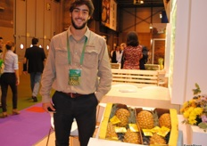 Alvaro Boente, of Upala Agrícola, Costa Rica. It has been the first time that Costa Rica had a hall at the fair and Upala Agrícola was one of the five companies present.